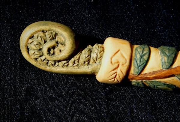 Fern fiddlehead finial