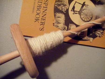 My spindle full of yarn
