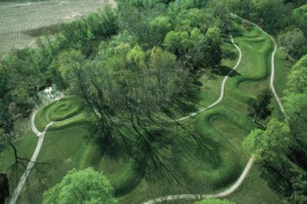 Great Serpent Mound near Peebles, Ohio