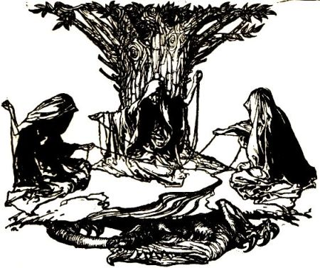 The Norns weaving destiny by Arthur Rackham, 1912