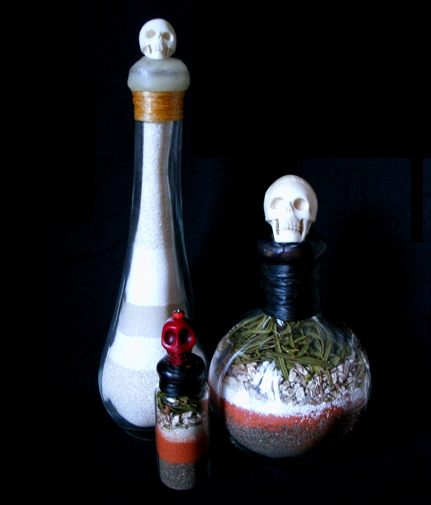 Spirit Bottles Crafted by the Witch of Forest Grove