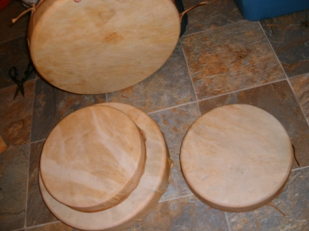 The finished bear drums