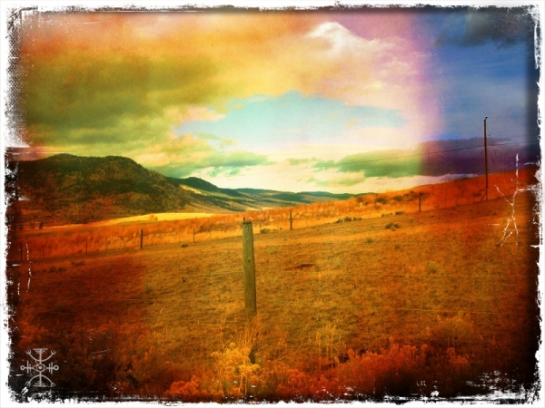 Driving into the Okanagan