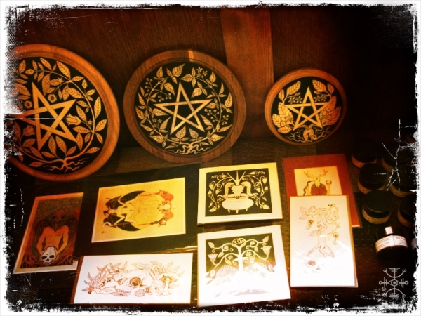 My little table of witchy wares