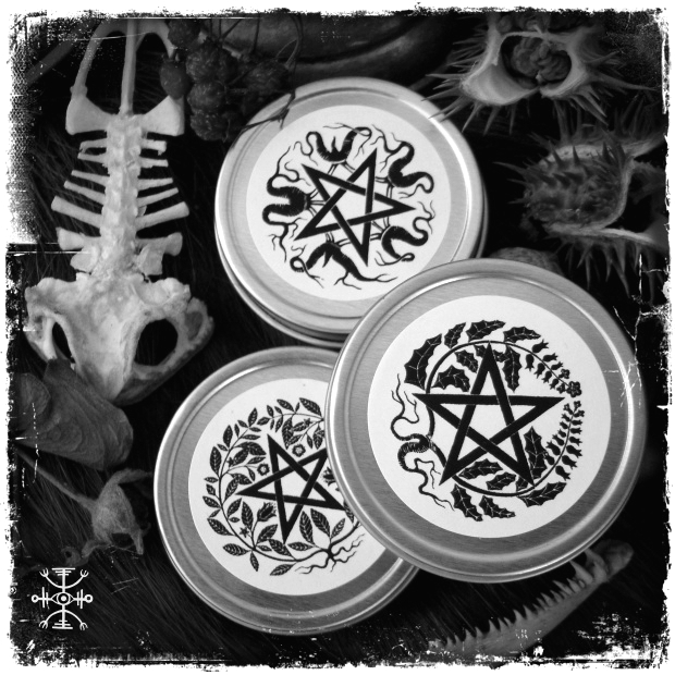 Flying ointments in new tins featuring my artwork